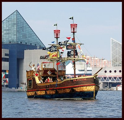 The Fearless sails the Inner Harbor