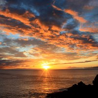 sunset from Papawai Scenic Lookout