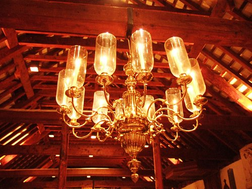 beam and limestone ceilings