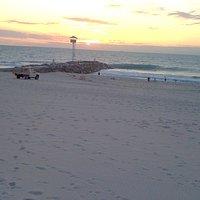 City Beach sunset - groyne and tower