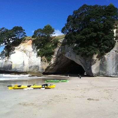 Visit Cathedral Cove on Coromandel Adventures Beach Express