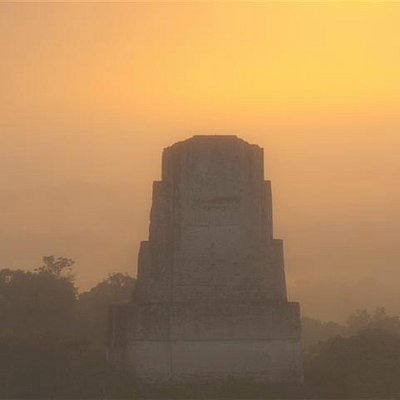 Tikal at sunrise - this was 10-15 minutes after a cloudy