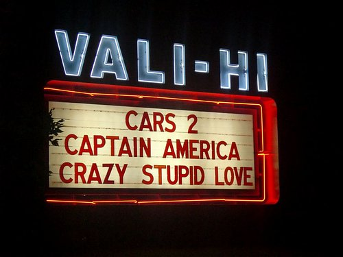 The sign as you drive in!