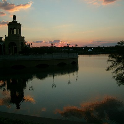 Sunset at the clock tower...