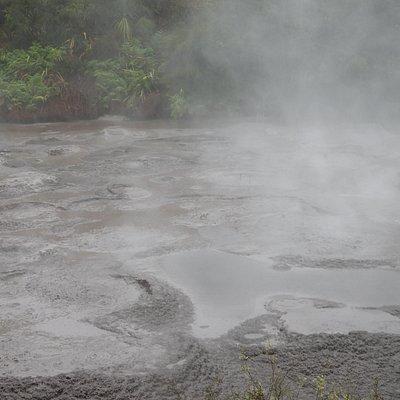 mud pools at 100 degree Celcius