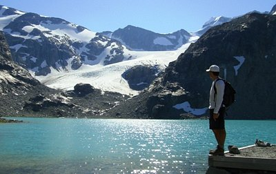 Wedgemount Lake and Wedgemount Glacier in the Distance, Whistler