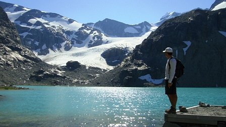 Wedgemount Lake and Wedgemount Glacier in the Distance, Whistler