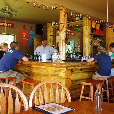 Log bar at the Home Ranch for food and drinks