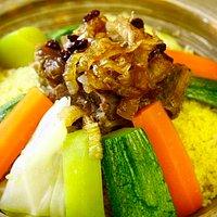 Cous cous de cordero y vegetales