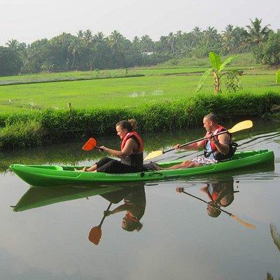kayaking tour through backwaters of kerala