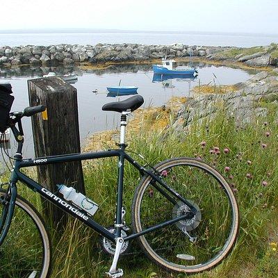 Bike beside the sea
