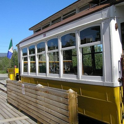The Trolley parked at Spook Creek Station