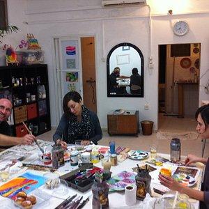 Fun times at Tel Aviv Art Studio