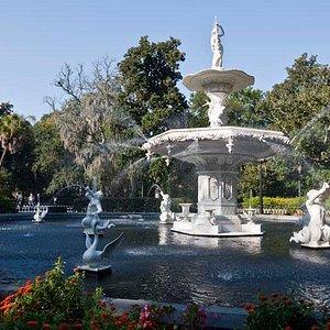 Forsyth Park Fountain, Savannah, GA.