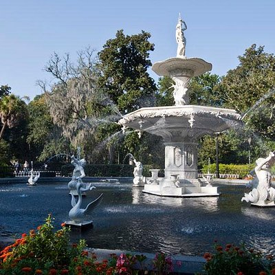 Forsyth Park Fountain, Savannah, GA.