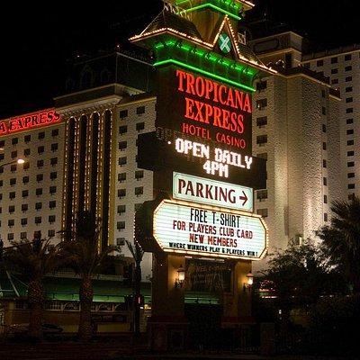 Night shot of the Tropicana Resort