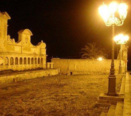 La piazza antistante la Granfonte