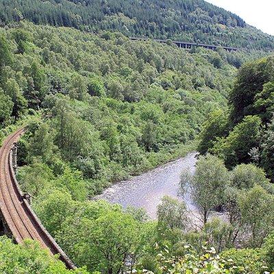 The three R's - Road, River and Rail at Killicrankie