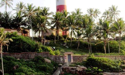 Lighthouse from Kovalam Beach