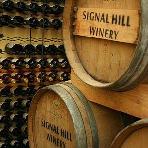 SIGNAL HILL WINES IN BARRELS