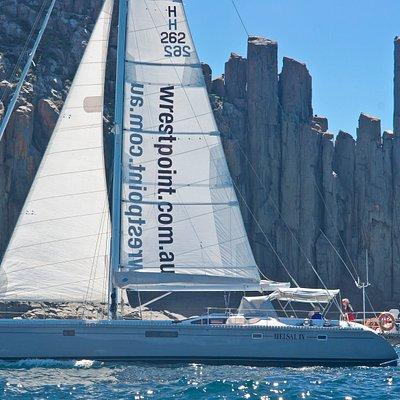 Sailing past Cape Raoul