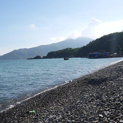 Beach on fourth island