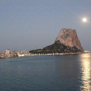 Moonlight Over The Peñon Ifach