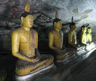 inside rock cave temple