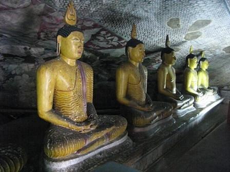 inside rock cave temple