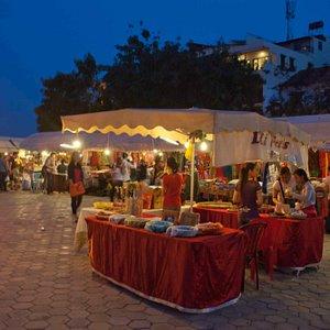 The bright and vibrant Night Market