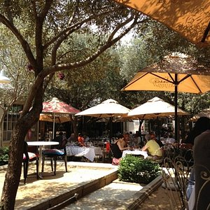 One of the courtyard restaurants