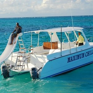 Maximum Chill, TCI's Only Commercial Waterslide Catamaran