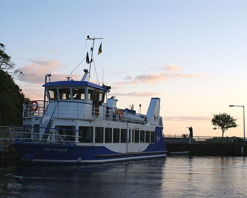 The Donegal Bay Waterbus resting at the quayside