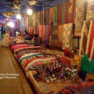 Luang Prabang night market. opens every night in the town centre.