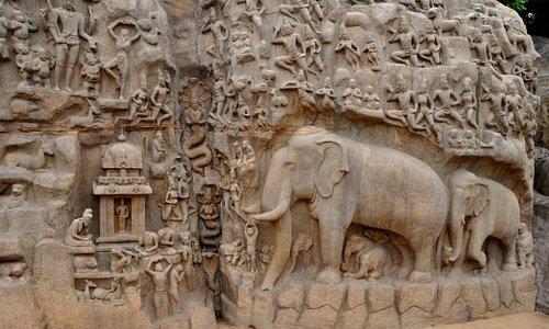 Monumentos en Mahabalipuram