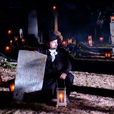 Candlelight Graveyard Tours are held at 9:30pm every Sun, Tues & Thurs night from June 1-Oct. 15