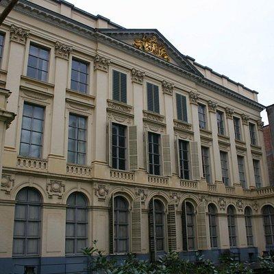 Backside of the Hôtel d'Hane-Steenhuyse