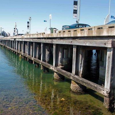 Still, clear water at Cunningham Pier