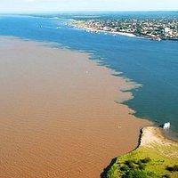 Tapajos and Amazon Rivers in Santarem