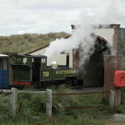 Fairbourne Railway, just leaving Barmouth harbour station
