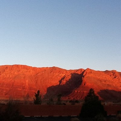 Red Mountain across the valley from Hopi petroglyphs