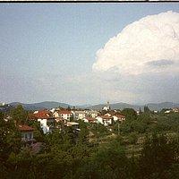 Blick in das Weinbaugebiet Brda