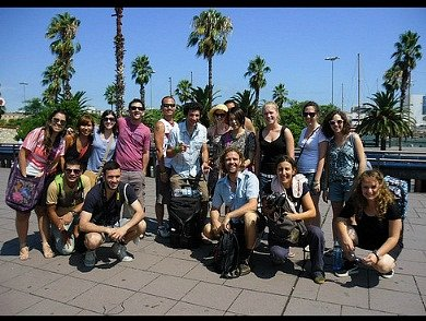 Free Walking Tour group picture from Paseo de Colom