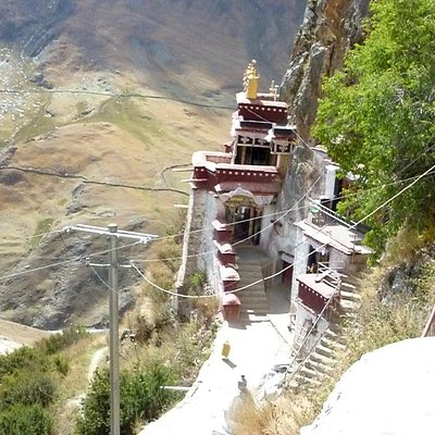 view from another temple at Drak Yerpa
