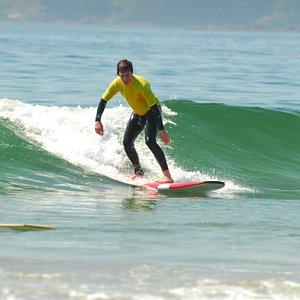 surfing with Tofino Surf School