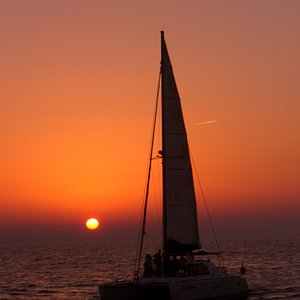 On Blue Lagoon during sunset