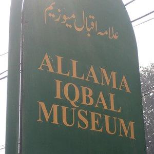 The Alama Iqbal Museum's Sign