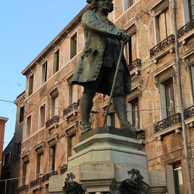 Carlos Goldoni Statue at Campo San Bartolomeo(2)
