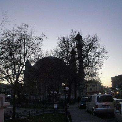 Aziziye Mosque at sun down