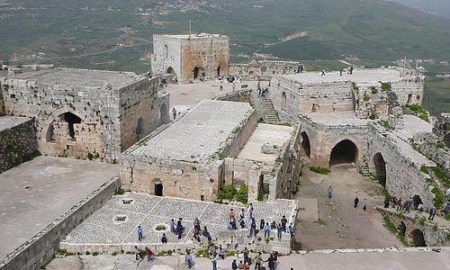 Vista castello da una torre